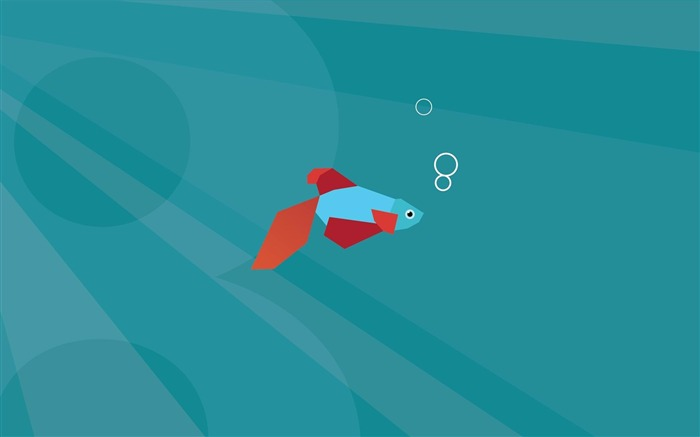 lonely fish-Microsoft Windows 8 system wallpaper Views:16487