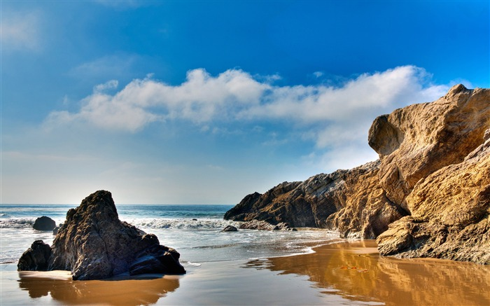American beach scenery wallpaper Views:11925
