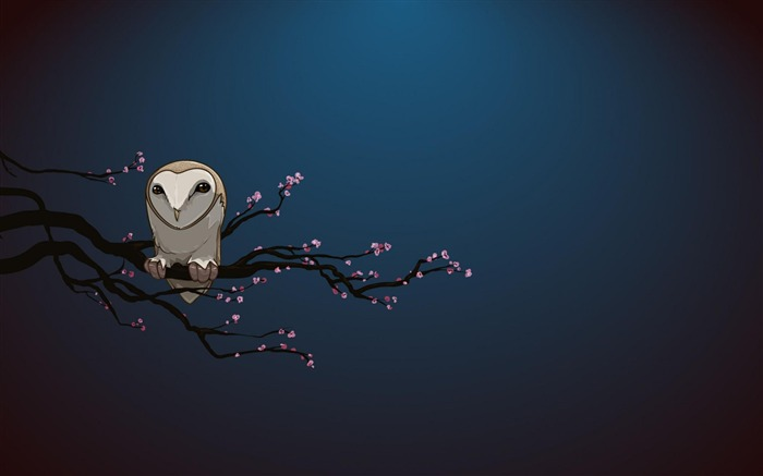 masked owl-Abstract art design wallpaper Views:9445