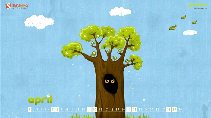 noisy neighbors-April 2012 calendar themes wallpaper Views:3116