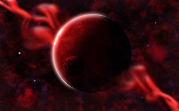 red planets-Magical space photography wallpaper Views:5605