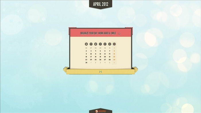 retro light wall-April 2012 calendar themes wallpaper Views:4167