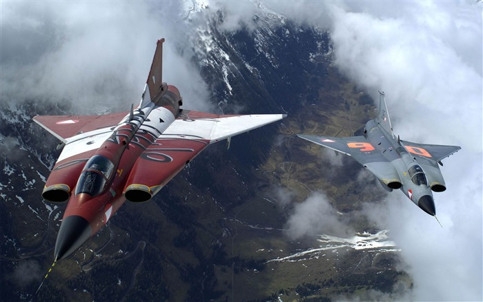 saab 35 draken-Military aircraft HD wallpaper Views:12821