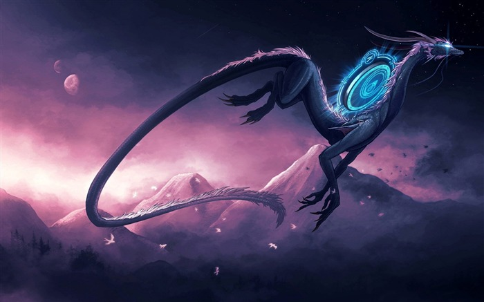 Dragon theme artistic design HD wallpaper Views:21072