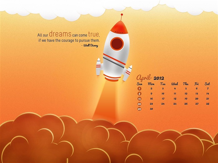 sky buster-April 2012 calendar themes wallpaper Views:4602