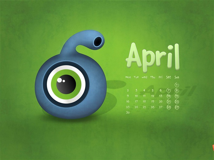 spring invasion-April 2012 calendar themes wallpaper Views:3310