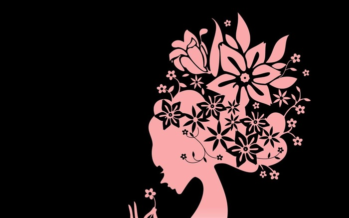 the flower girl-Abstract art design wallpaper Views:5849