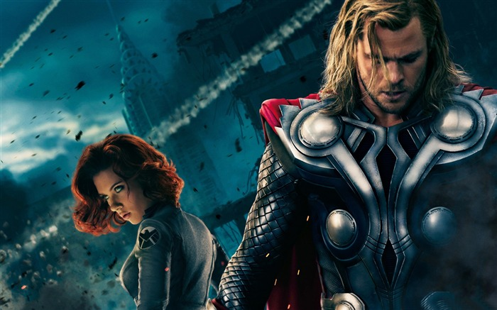 thor and black widow-The Avengers 2012 HD Wallpapers Views:11515