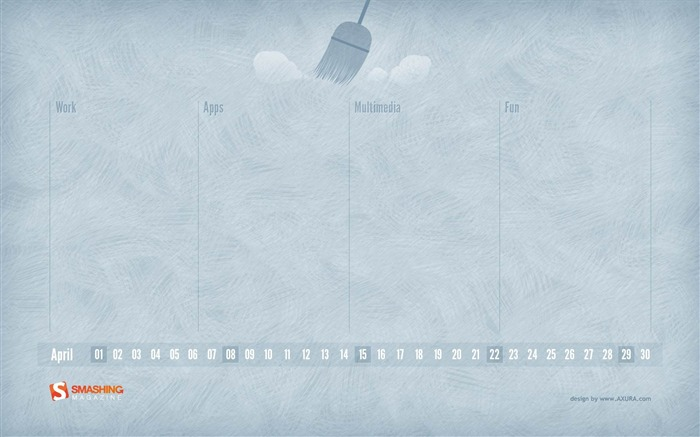 tidy desktop-April 2012 calendar themes wallpaper Views:4221