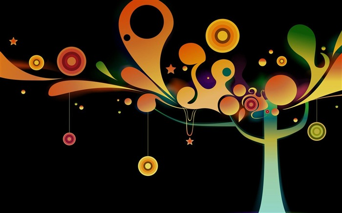 tree-Abstract art design wallpaper Views:7750