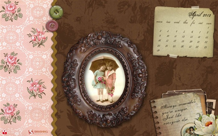 vintage times-April 2012 calendar themes wallpaper Views:3747
