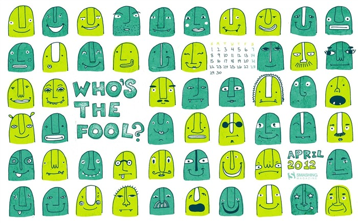 whos the fool-April 2012 calendar themes wallpaper Views:2938