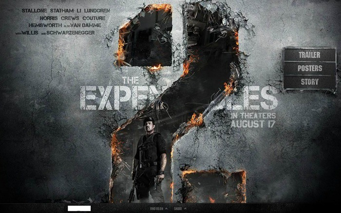 2012 The Expendables 2 HD Movie Wallpaper 01 Views:7010