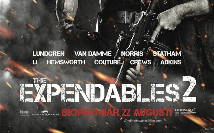 2012 The Expendables 2 HD Movie Wallpaper Views:8766