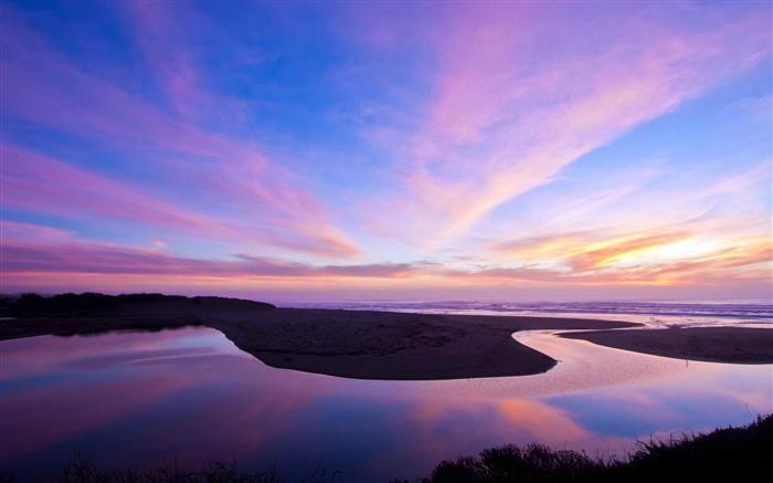 A nice winter Bodega Bay Sunset-Landscape photography wallpaper Views:5502