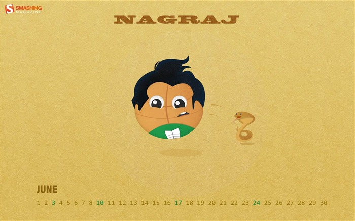 Basketball Nagraj-June 2012 calendar wallpaper Views:3858