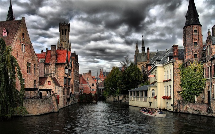Bruges Belgium-City Landscape Wallpaper Views:21424