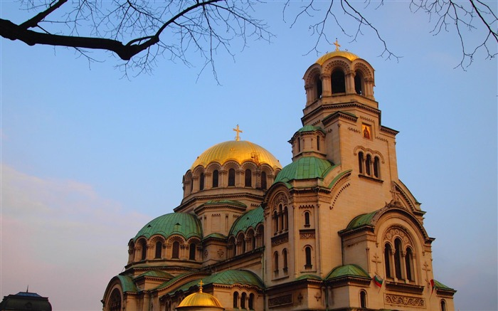 Bulgaria Sofia Alexander Nevsky Cathedral-city architecture wallpaper Views:6504