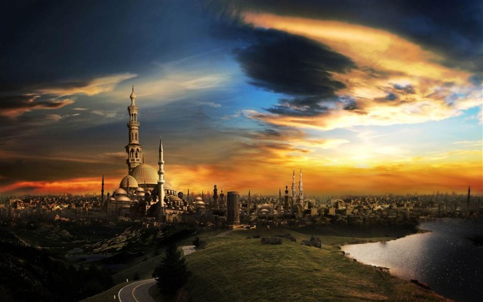 City scenery-City Landscape Wallpaper Views:5318