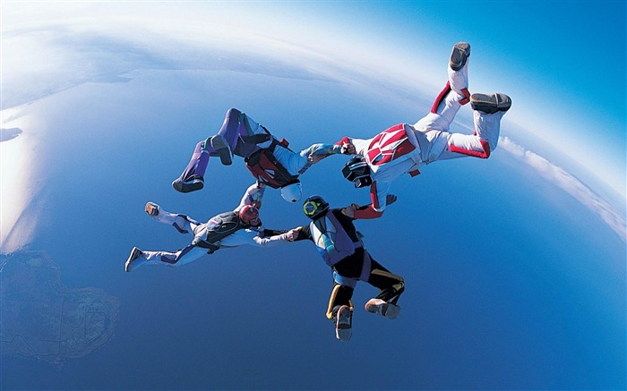 Extreme skydiving-Sport wallpaper Views:11640