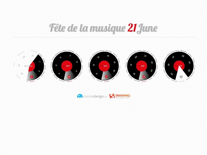 Fete De La Musique-June 2012 calendar wallpaper Views:3442