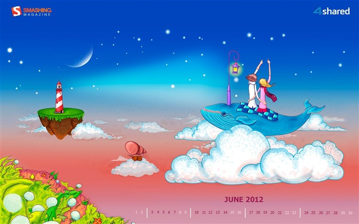June Romance-June 2012 calendar wallpaper Views:2941