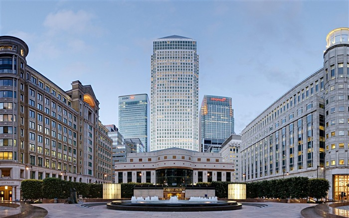 London Canary Wharf-city architecture wallpaper Views:7760