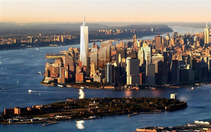 New York Harbour-City Landscape Wallpaper Views:12519