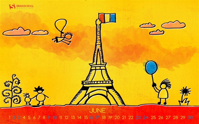 Paris Summer-June 2012 calendar wallpaper Views:2734