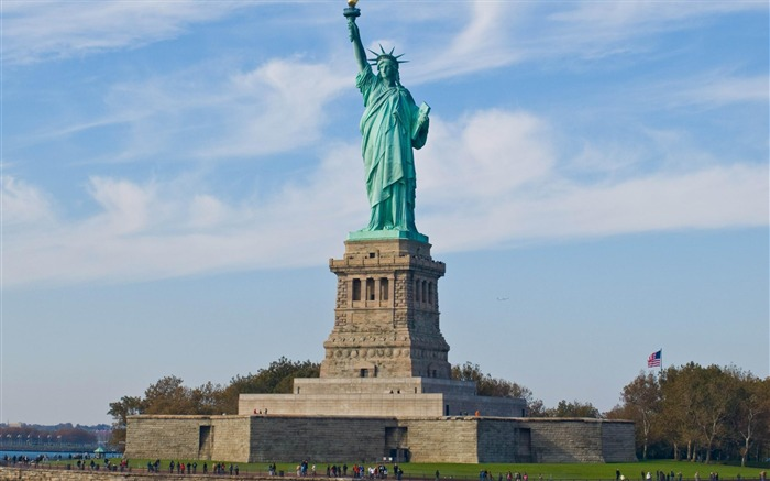 Statue of Liberty New york-city architecture wallpaper Views:17811