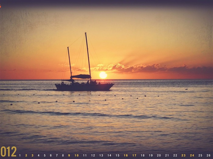 Sunset In Jamaica-June 2012 calendar wallpaper Views:3530