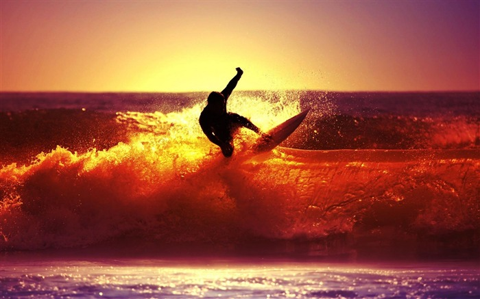 Sunset Surf-Sport wallpaper Views:8751