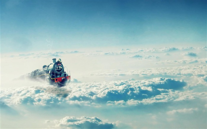 Train On The Clouds-High Quality wallpaper Views:6840