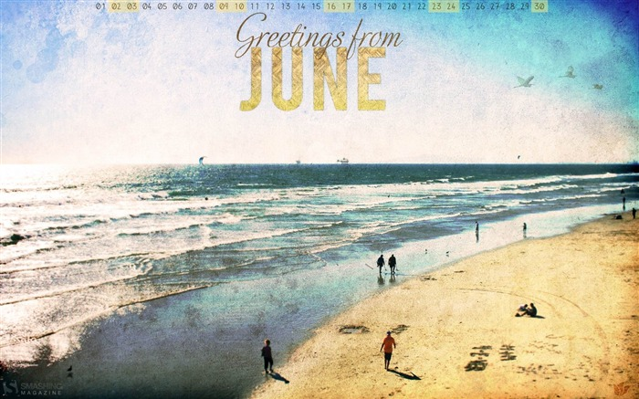 beach-June 2012 calendar wallpaper Views:4259