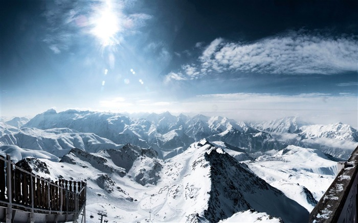 central french alps-Natural landscape wallpaper Views:5647