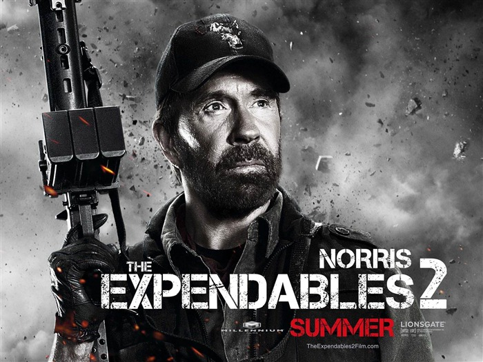 chuck norris-The Expendables 2 HD Movie Wallpaper Views:10769