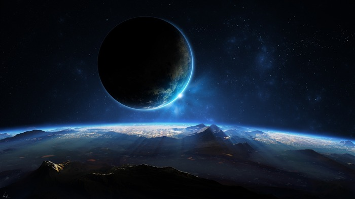 distant planet-universe photography wallpaper Views:50040