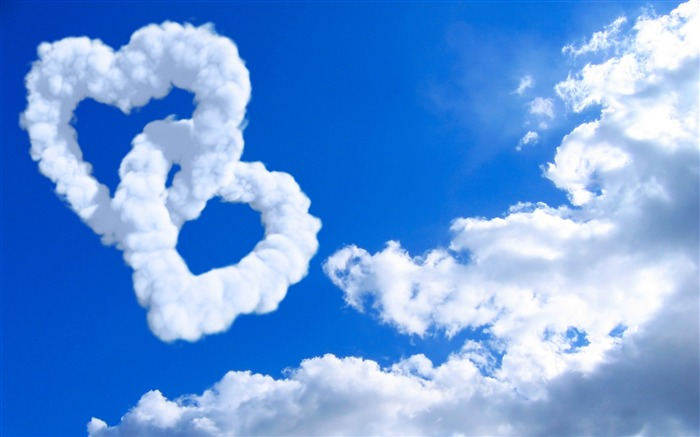 hearts in clouds-love wallpaper Views:22973
