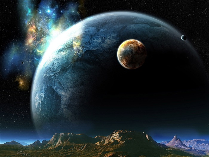 huge planet-universe photography wallpaper Views:4191