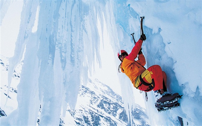ice climbing-Sport wallpaper Views:12641