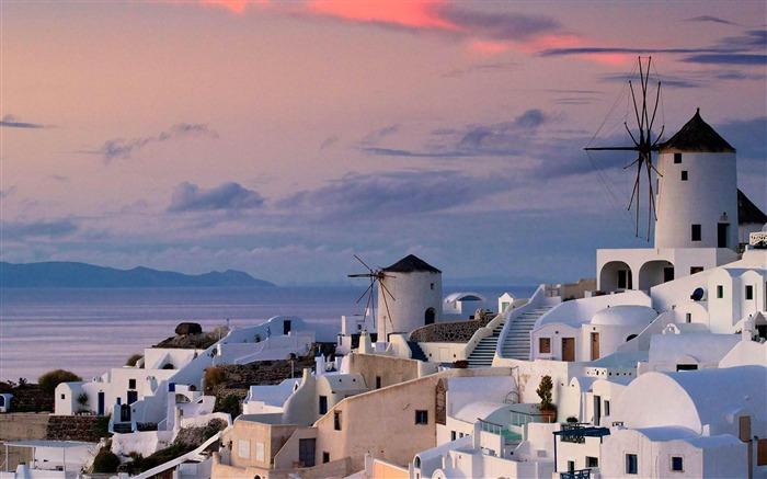 island village of Oia Greece-Landscape photography wallpaper Views:10223
