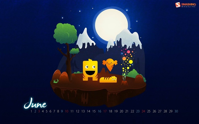 magic night-June 2012 calendar wallpaper Views:3034