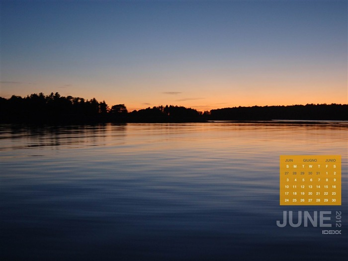 silent lake-June 2012 calendar wallpaper Views:2264