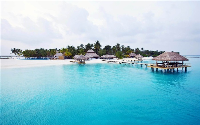 Vacation paradise-Maldives beach scenery wallpaper Views:25883