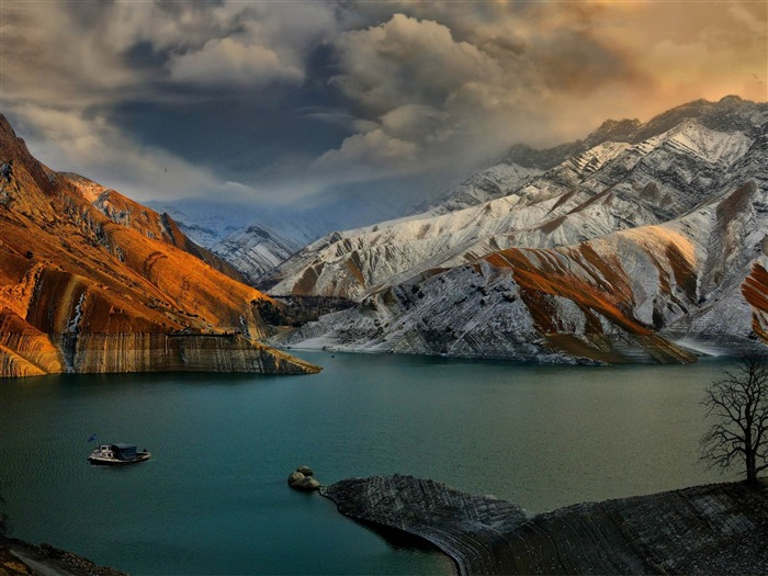 amirkabir dam-Iran landscape wallpaper Views:37187
