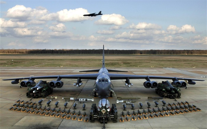 b 52轰炸机的有效载荷-航空飞机壁纸 预览