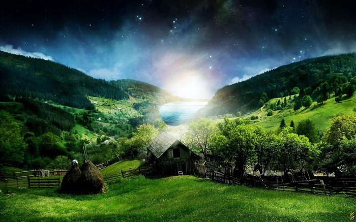 beautiful landscape-Aero Creative wallpaper Views:31752