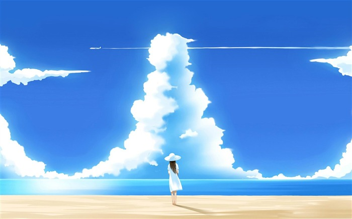 beautiful summer day-Anime characters wallpaper Views:24885