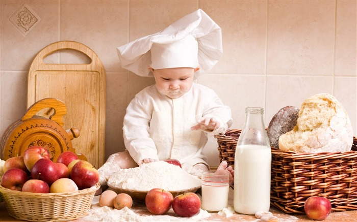 chef-Cute Baby Photography Wallpaper Views:9340