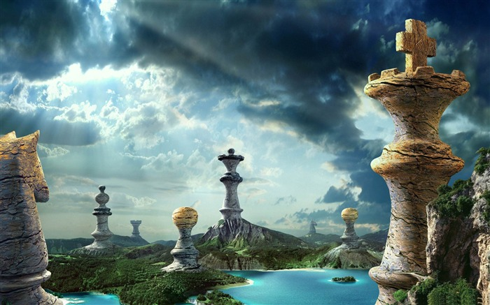 fantasy chess art-Aero Creative wallpaper Views:18839